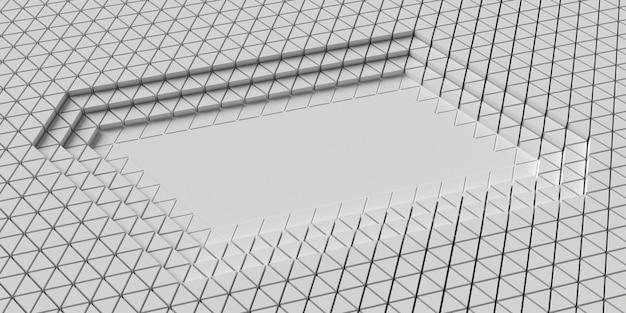 多角形の幾何学的形状のレイヤーハイビュー
