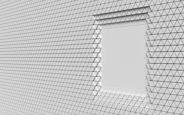 多角形の幾何学的形状のレイヤーの側面図