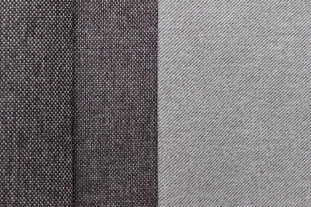 두 가지 색상과 갈색 색상의 텍스처 패브릭 레이어. 복사 빈 공간 사진입니다.
