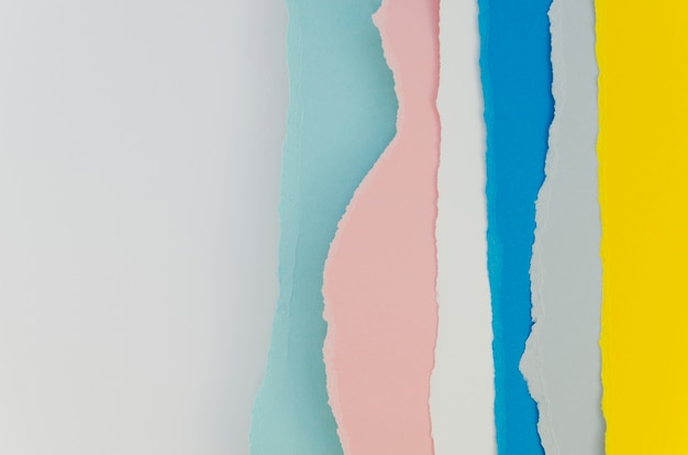 Layers of pastel colored papers