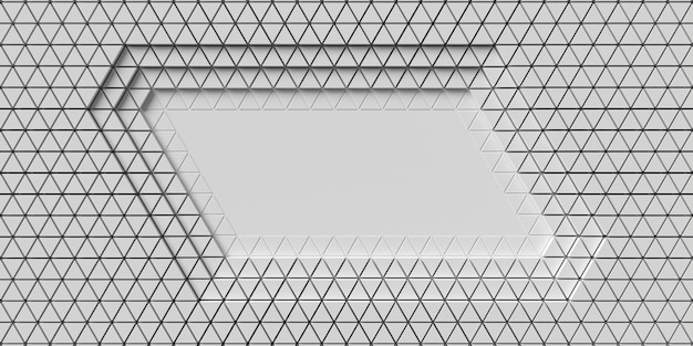 Layers of polygonal geometric shapes top view
