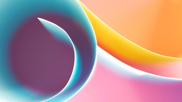 Strati di carte colorate arrotolate
