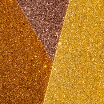 Layers of shinny gradient gold texture