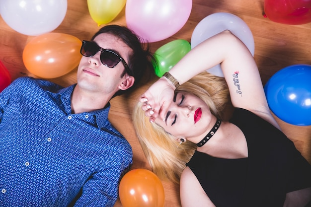 Laying down at the party