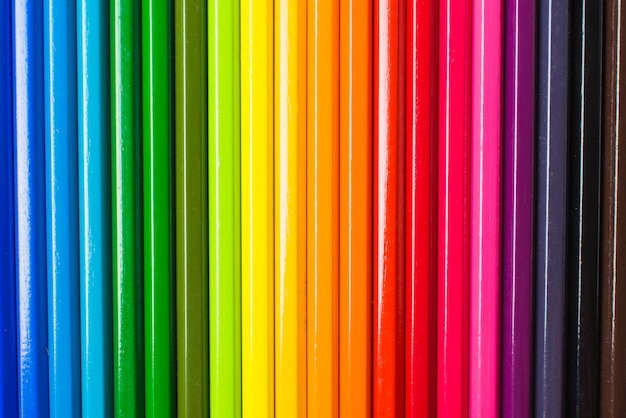 Layout of pencils in lgbt colors
