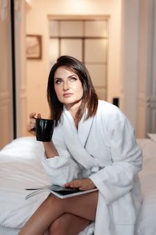 Lazy morning beautiful woman