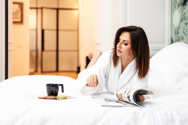 Lazy morning woman