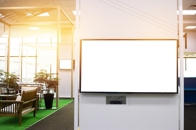 Lcd blank billboard for copy space in your text message or promotional content