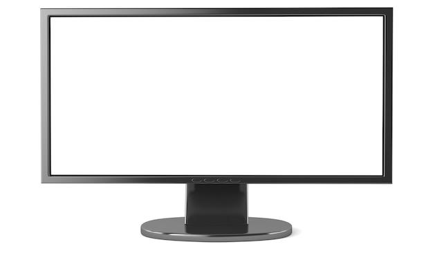Жк-монитор с пустым экраном, изолированные на белом фоне