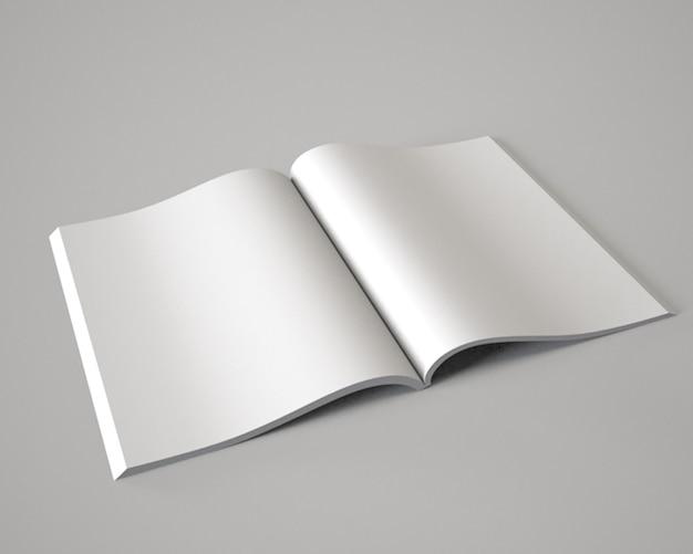 Le magazine ouvert livre livret brochure illustration 3d raliste mock up