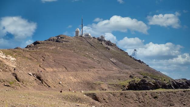 Гора ле-пик-дю-миди-де-бигор во франции