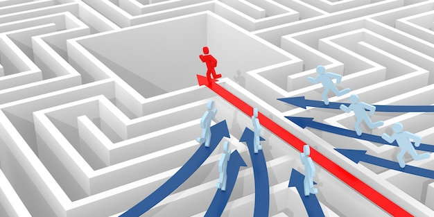 Leader. computer rendered graphic for the business concept