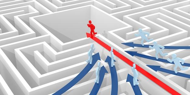 지도자. 비즈니스 개념에 대한 컴퓨터 렌더링 그래픽