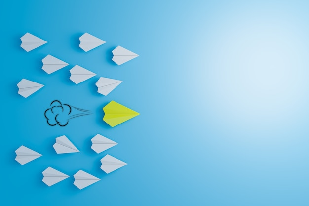 Лидерские действия для достижения успеха в бизнесе и командная работа для достижения успеха, рендеринг 3d-иллюстраций