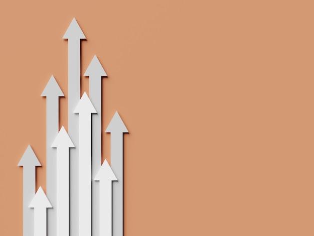 Лидерство и бизнес-концепция. стрелки разной длины