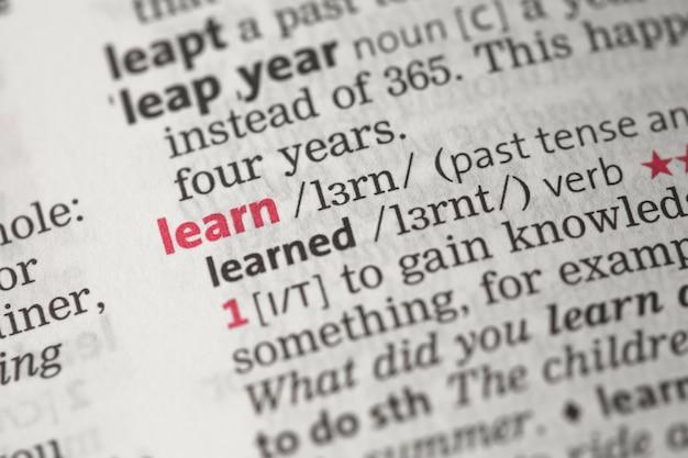 Learn definition