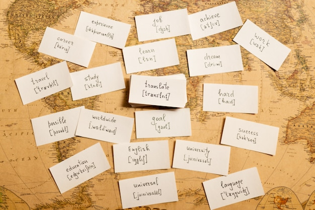 Learning english words. translate