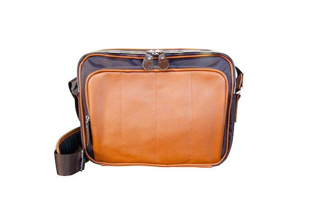 Leather bag for man isolated Premium Photo
