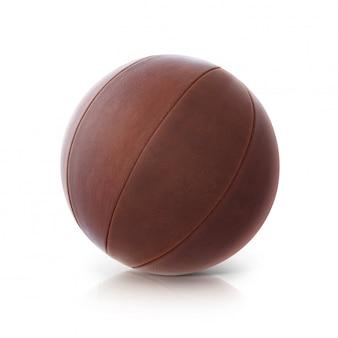 Изолированный иллюстрация шарика кожи 3d на белизне