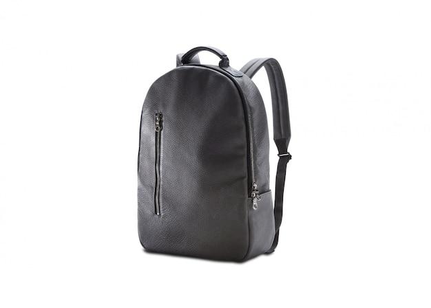 Кожаная черная сумка для женской моды изолирована