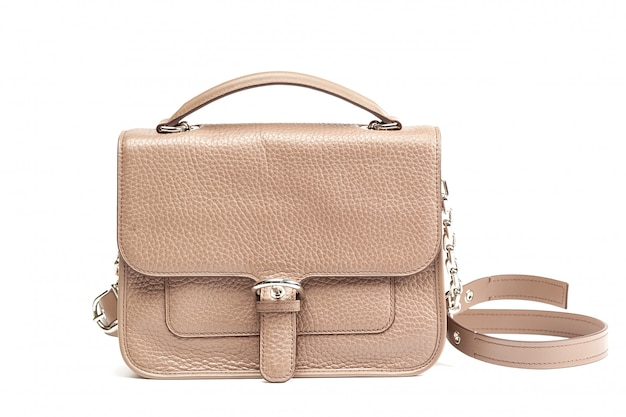 Leather female handbag.