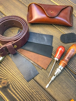 Leather goods. workshop for the manufacture of clothing and accessories.