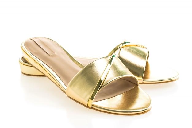 Leather sandals pair colors sea