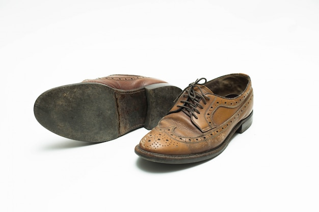 Leather shoes isolated