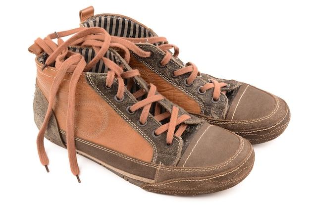 화이트 가죽 신발