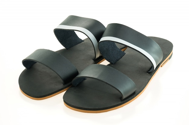 Leather shoes and sandal