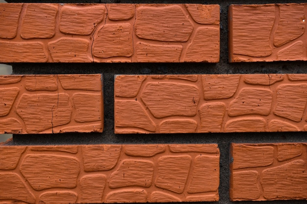 Leather texture brick wall