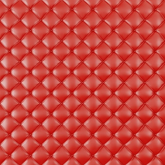 Leather upholstery sofa background. red luxury decoration sofa. elegant red leather texture with buttons for pattern and background. leather texture for graphic resource, 3d rendering