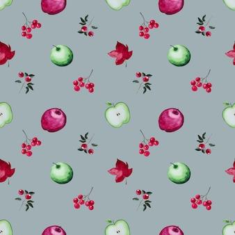 葉と果物のパターン
