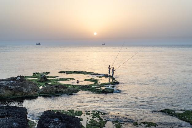 Lebanon beirut fisherman coast