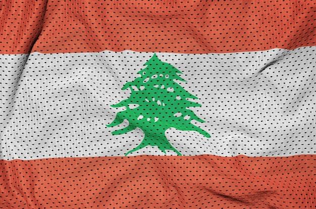폴리 에스터 나일론 스포츠웨어 메쉬 패브릭에 인쇄 된 레바논 깃발