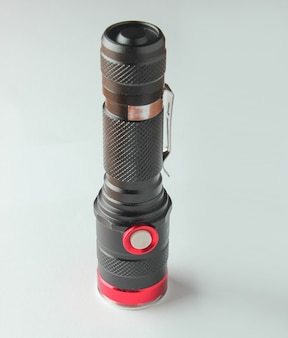 Led flashlight on white