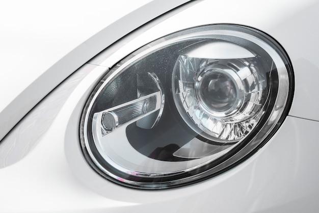 Led headlight of white auto