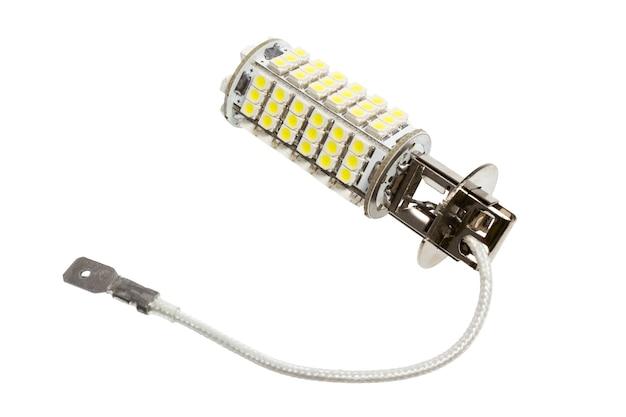 흰색 배경에 고립 된 자동 led 램프