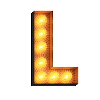 Светодиодный шатер буква l на белом фоне