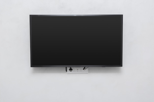 Led tv on the wall