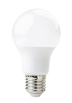 Светодиодная белая лампочка, изолированные на белом фоне