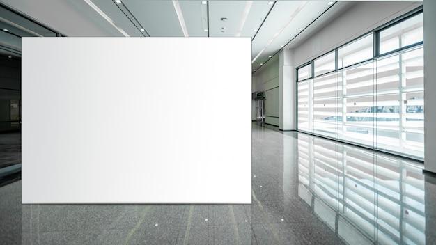 広告のために垂直空白の看板白色ledスクリーンをモックアップします。