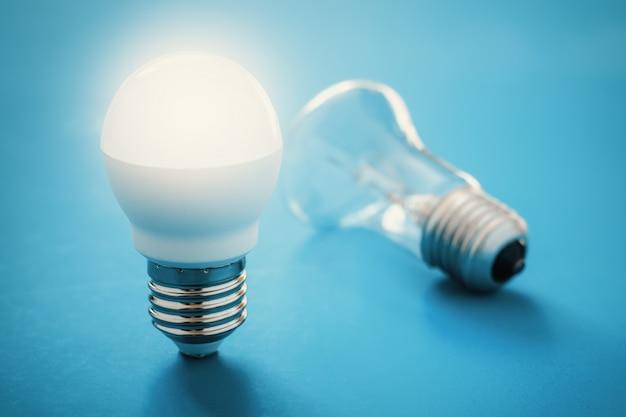 リクライニング白熱灯の近くに点灯ledランプ