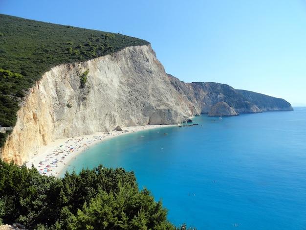 Lefkada island greece porto katsiki beach landscape