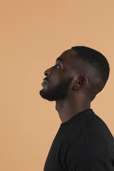 Left sideways american black person
