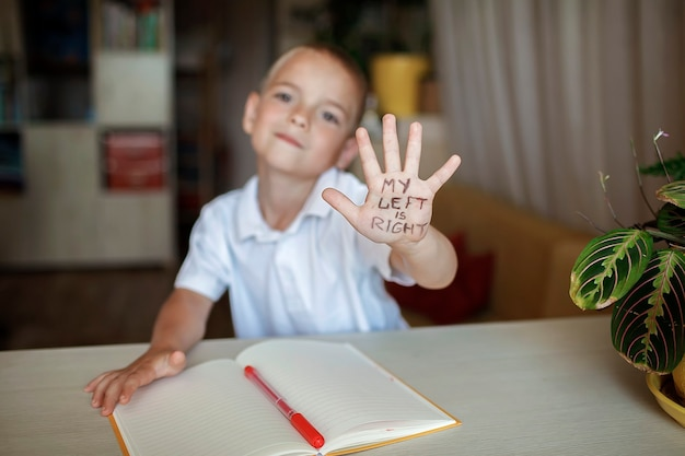Lefthanded showing his left hand with text my left is right lefthander day celebration