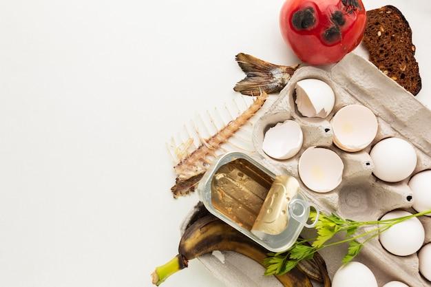 Spazio della copia dei rifiuti alimentari rimanenti