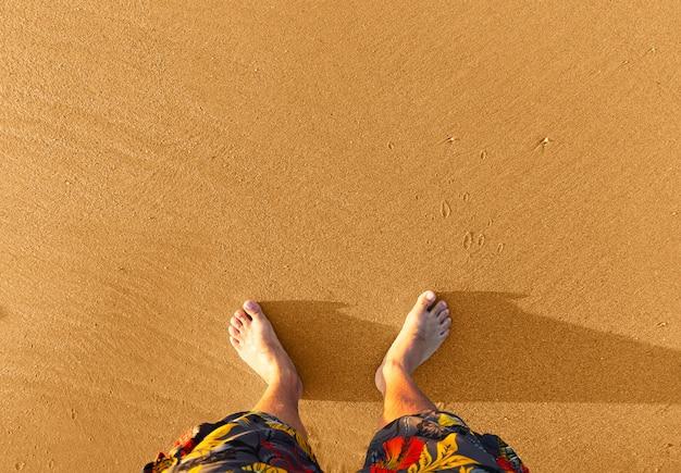 모래에 다리