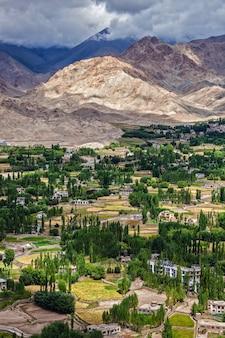 Leh city in himalayas, ladakh, india