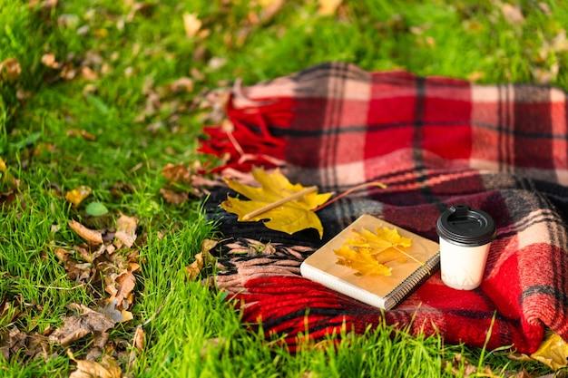 Отдых с теплым пледом и чашкой кофе
